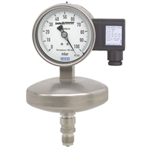 Absolute pressure gauge with output signal