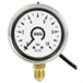 Bourdon tube pressure gauge with electronic pressure switch